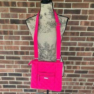 Vera Bradley solid pink quilted crossbody bag